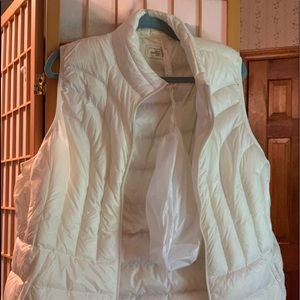 White down vest by Be Inspired.